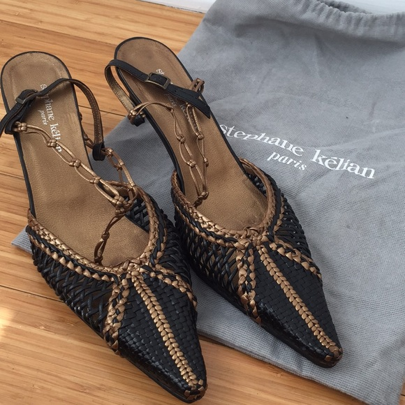 Stephane Kélian Metallic Slingback Sandals clearance get to buy l0hsZP8es